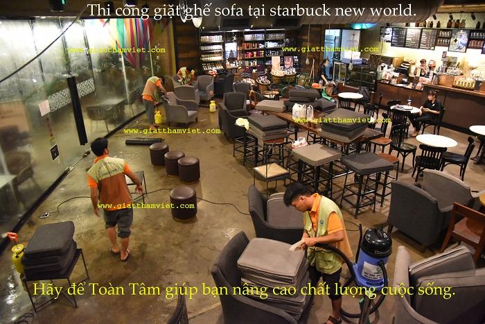 Dịch vụ giặt ghế sofa cafe