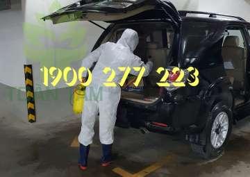 khử trùng  diệt khuẩn xe hơi, ô tô