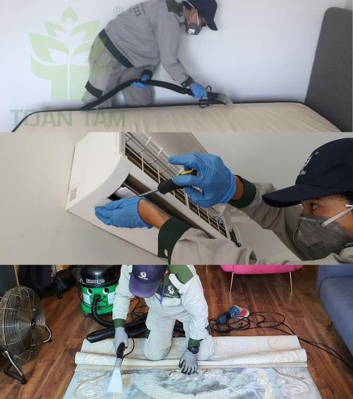 Các dịch vụ kết hợp chung với giặt ghế sofa