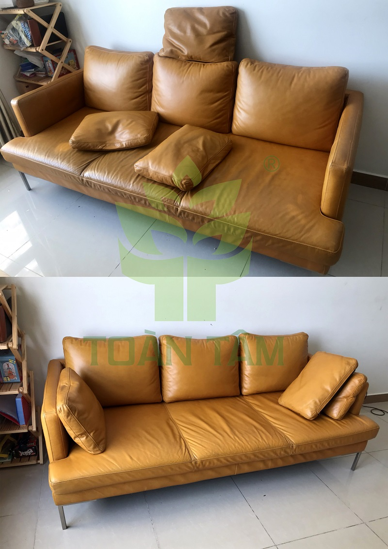 Dịch vụ giặt ghế sofa da Toàn Tâm
