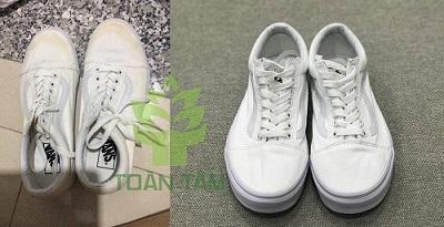 vệ sinh giày (làm sạch vết ố vàng)