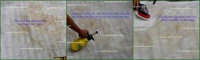 giặt nệm - xử lý vết bẩn trên bề mặt nệm bông ép